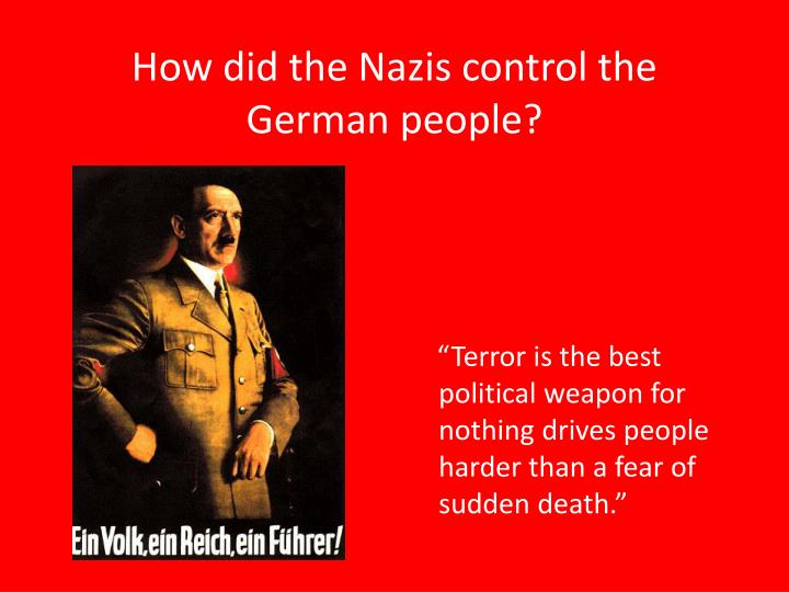 how did the nazis control the german people n.