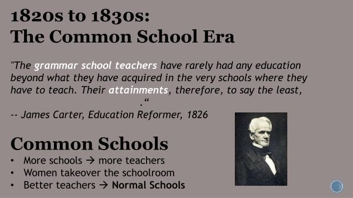 1820s to 1830s: