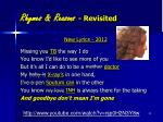 rhymes reasons revisited1