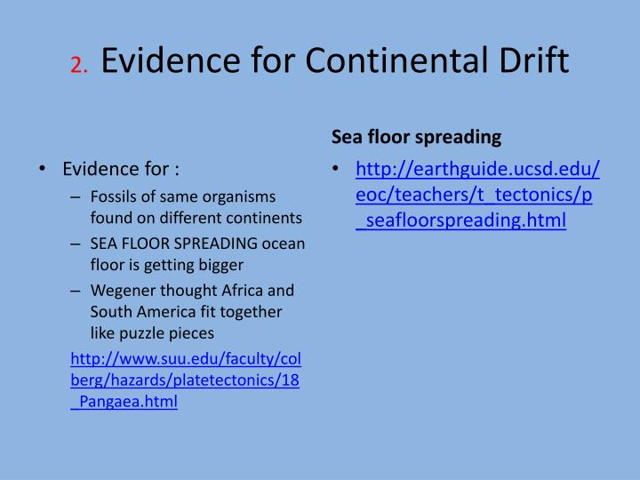 biological evidence of continental drift 2a3 evidence for continental drift чтобы просмотреть это видео, включите javascript и используйте веб-браузер, который from one continent to another, virtually impossible if you had to cross an ocean so, again he took the distribution of fossil species, one more bit of evidence that.