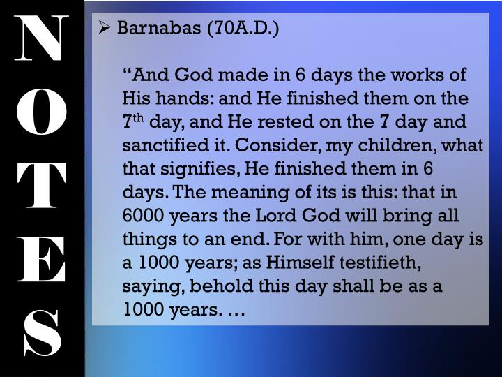 Barnabas (70A.D.)