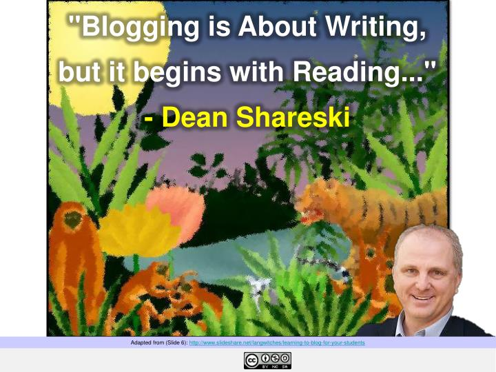 """Blogging is About Writing,"