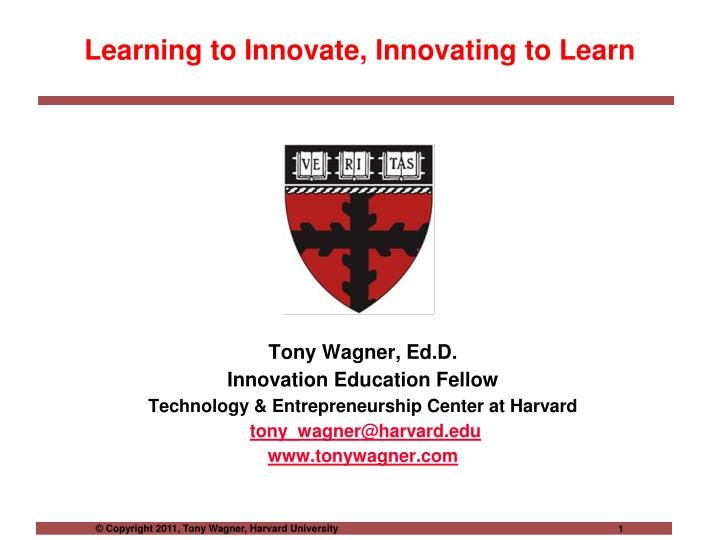 learning to innovate innovating to learn n.