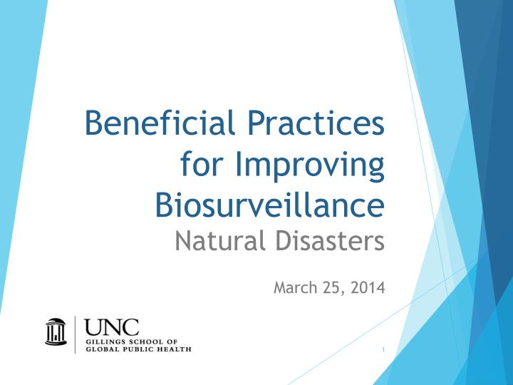 beneficial practices for improving biosurveillance n.