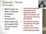biography olympe de gouges