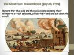 the great fear peasant revolt july 20 1789
