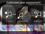 calibrated peer assessment