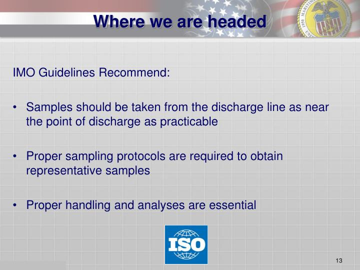 IMO Guidelines Recommend: