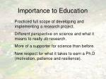 importance to education