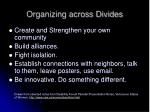 organizing across divides
