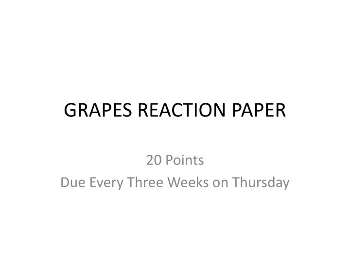 reaction paper for economics of the Description of assignment: reflective reaction paper and questions/comments for discussion (3 pts each) – approximately one-page paper (single spaced, 10-12 pt font) in response to the assigned readings and daily content that includes at least two critical questions for discussion.