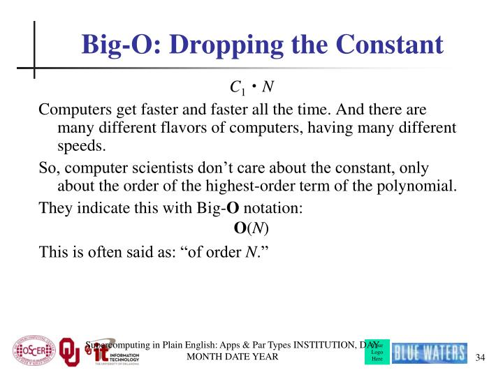 Big-O: Dropping the Constant