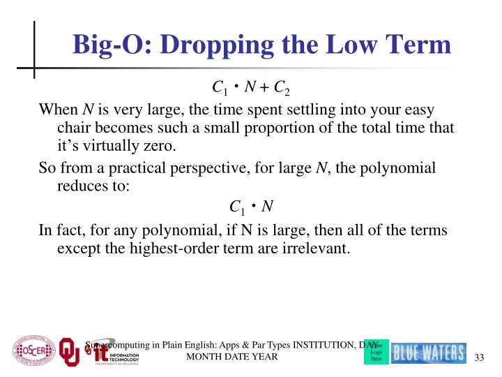 Big-O: Dropping the Low Term