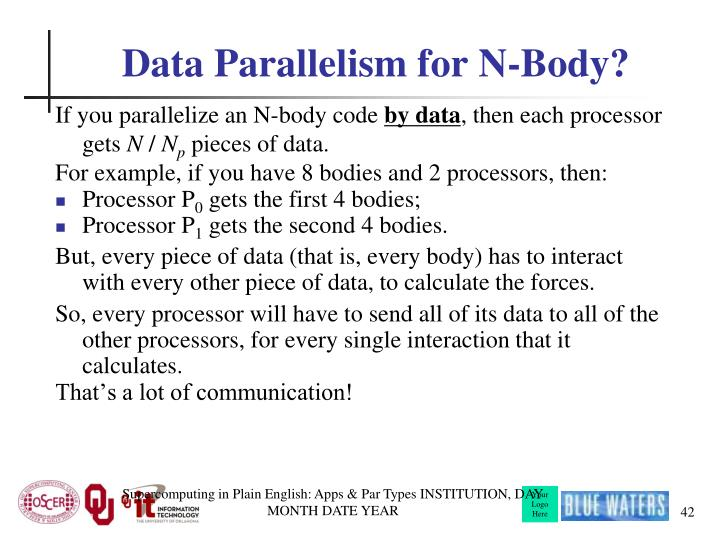 Data Parallelism for N-Body?