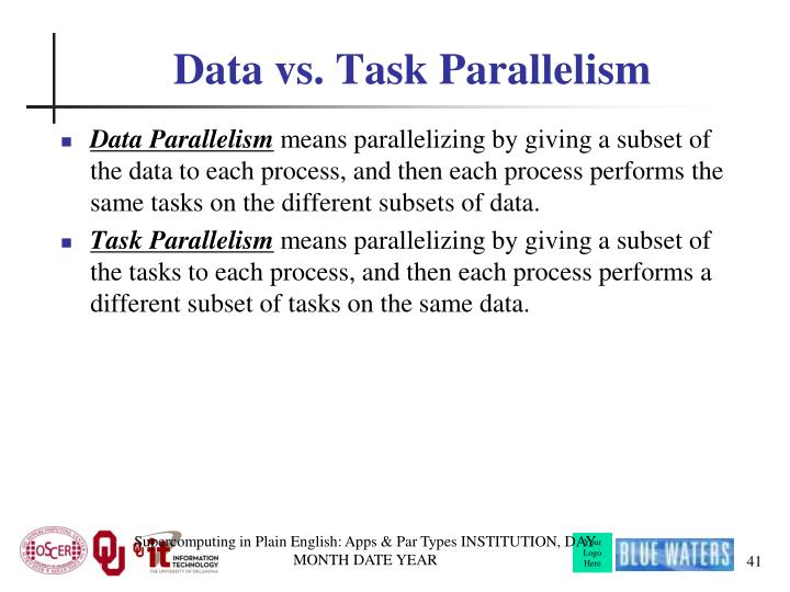 Data vs. Task Parallelism