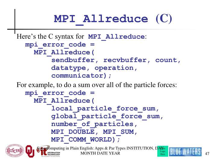 MPI_Allreduce