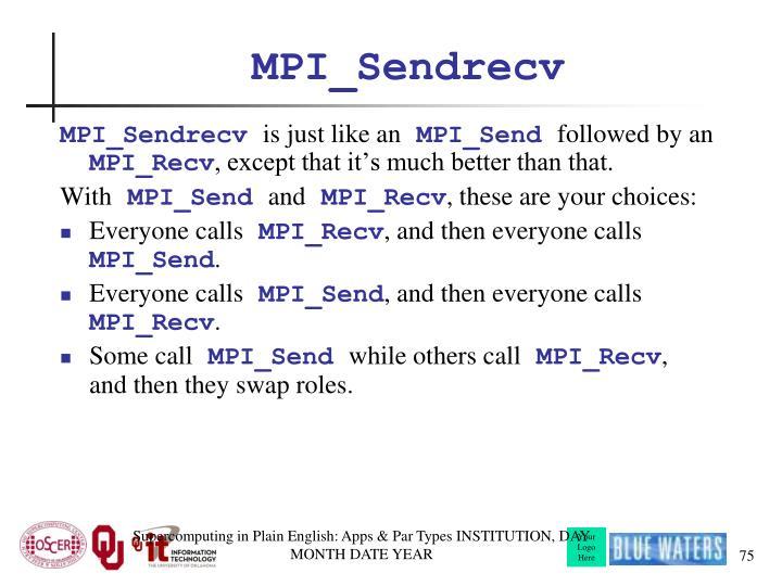 MPI_Sendrecv