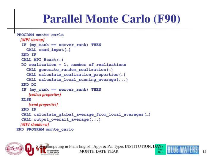 Parallel Monte Carlo (F90)