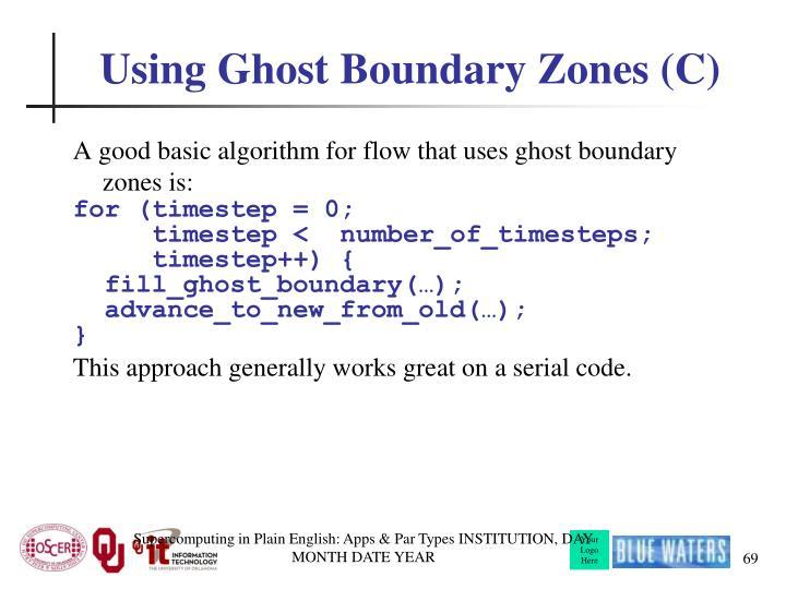 Using Ghost Boundary Zones (C)