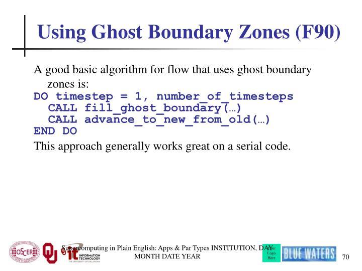 Using Ghost Boundary Zones (F90)