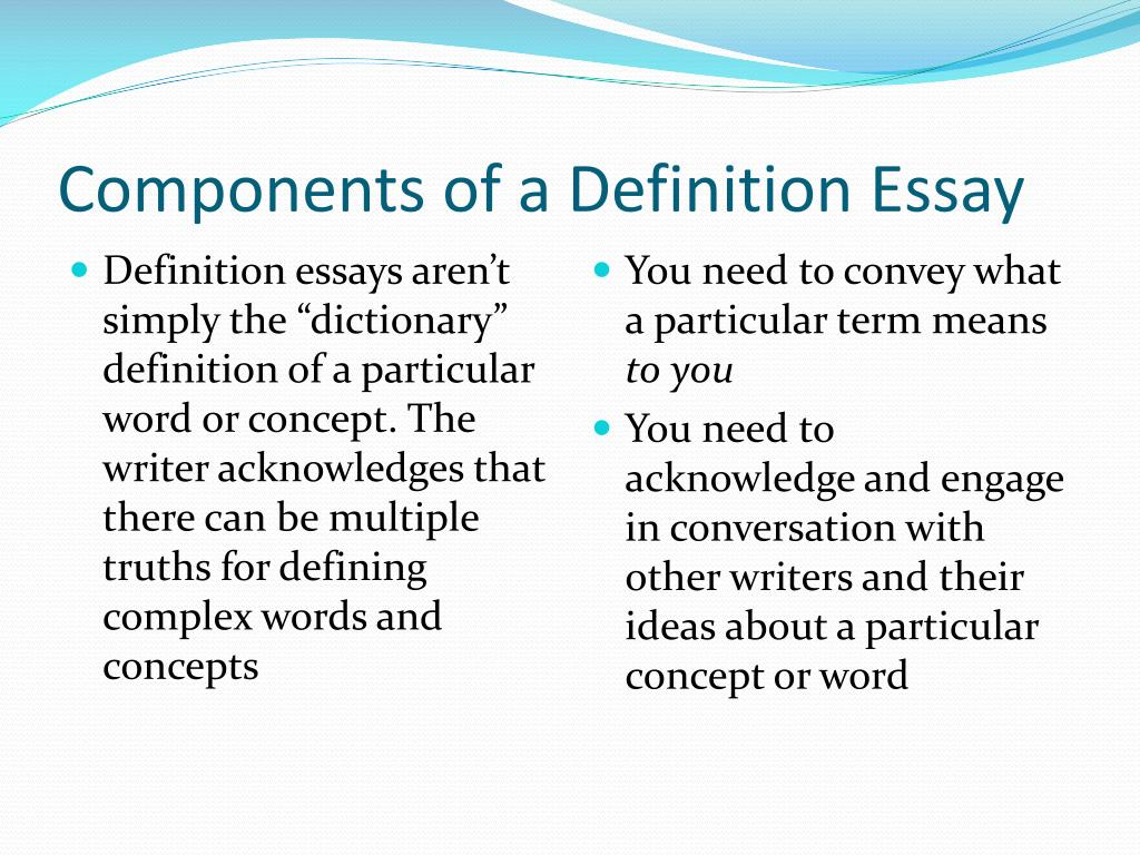 ppt  writing a definition essay powerpoint presentation