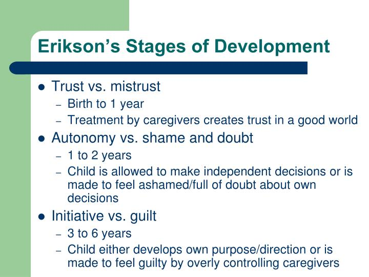 erikson s stages of development n.