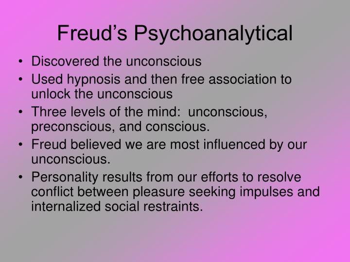 Freud's Psychoanalytical