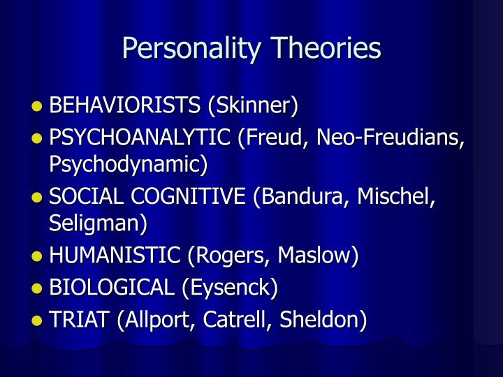Personality theories1