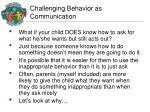 challenging behavior as communication