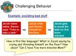 challenging behavior