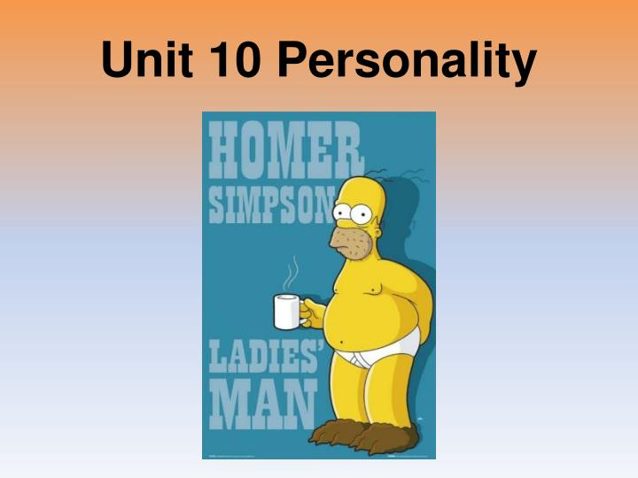 unit 10 personality n.