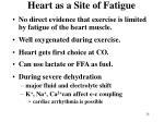 heart as a site of fatigue