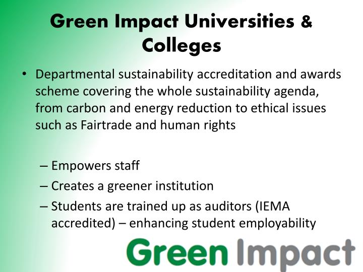 Green Impact Universities & Colleges