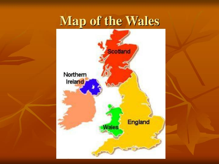 Map of the Wales