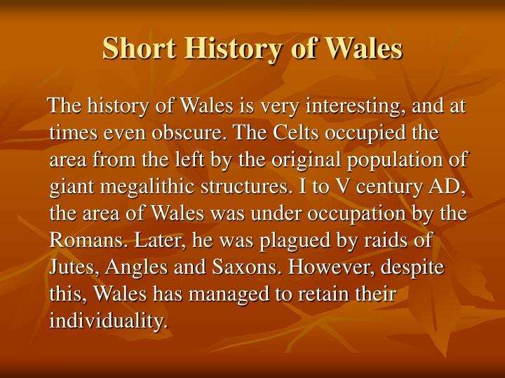 Short History of Wales