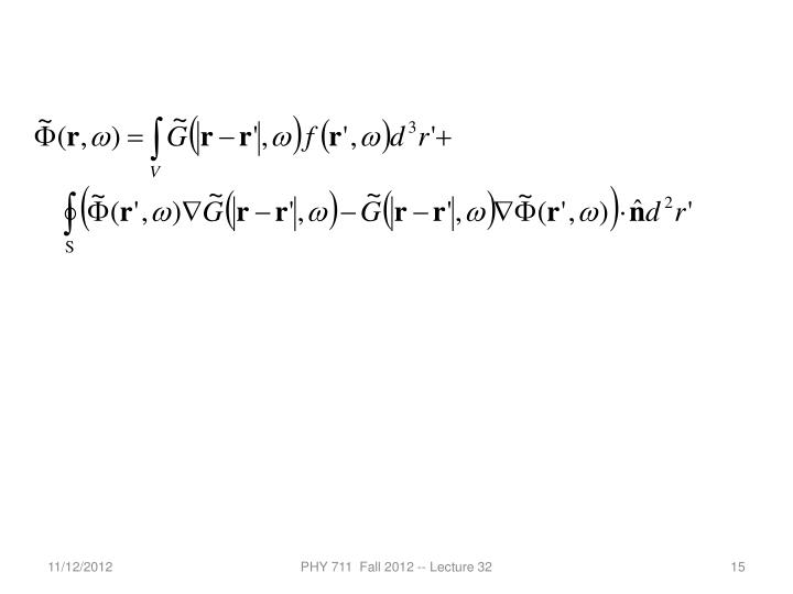 PHY 711  Fall 2012 -- Lecture 32