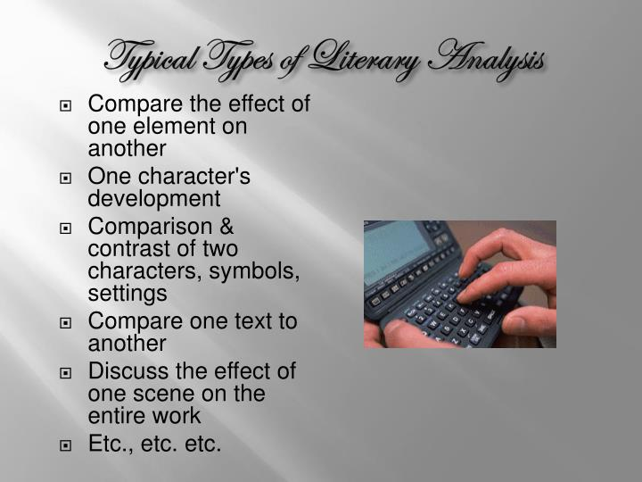Typical Types of Literary Analysis
