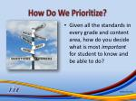 how do we prioritize