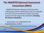 the smarter balanced assessment consortium sbac