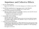 impedance and collective effects