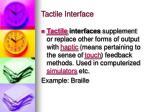 tactile interface