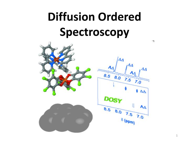 Diffusion ordered spectroscopy
