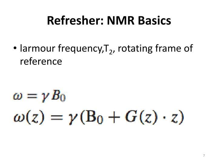Refresher: NMR Basics