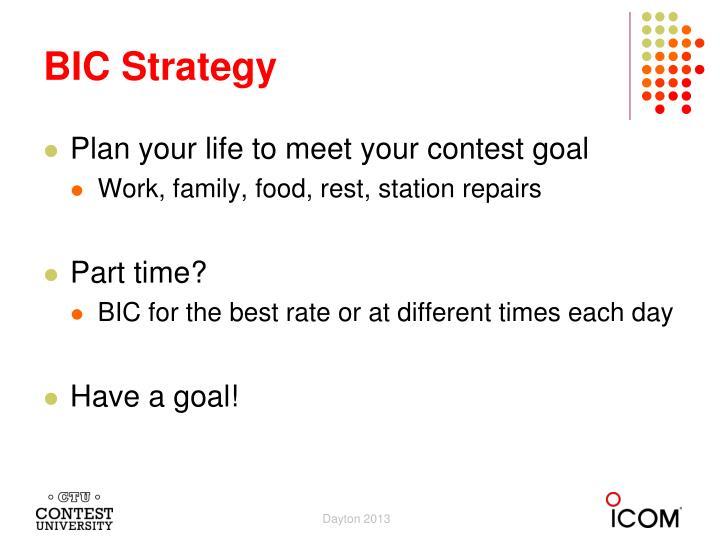 BIC Strategy