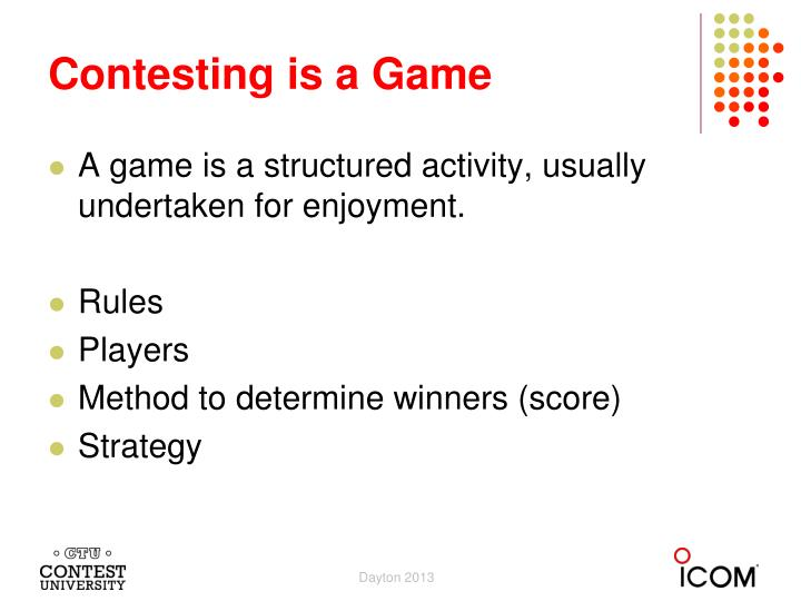 Contesting is a game