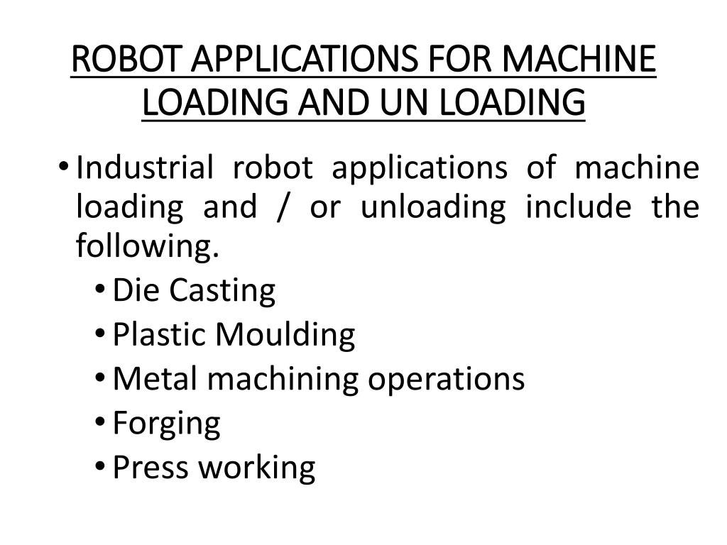 PPT - ROBOT APPLICATIONS PowerPoint Presentation - ID:2787814