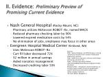 ii evidence preliminary preview of promising current evidence