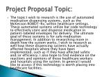 project proposal topic