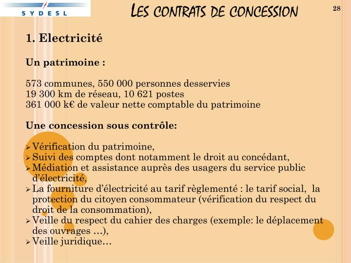 Les contrats de concession