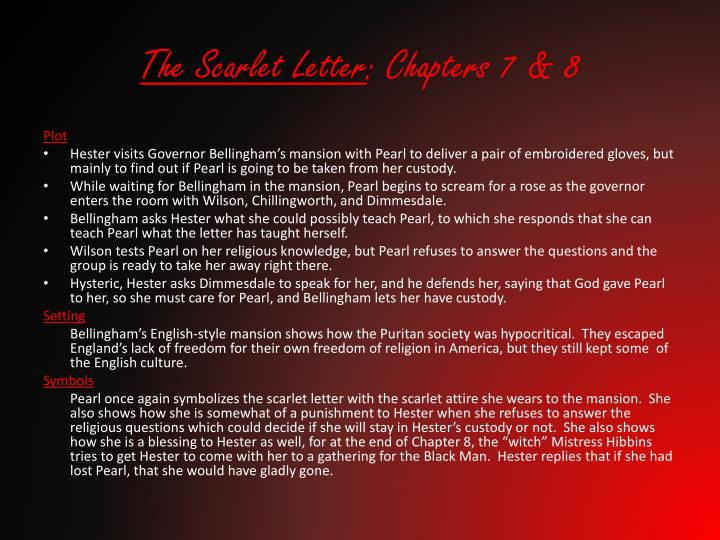 ppt - the scarlet letter : chapters 7 & 8 powerpoint presentation